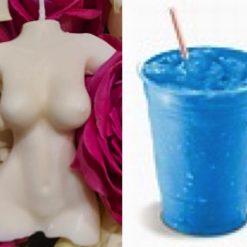 Torso candle inspired by Blueberry slush