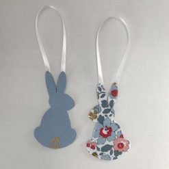 Easter decorations made with Liberty tana lawn and faux leather 4