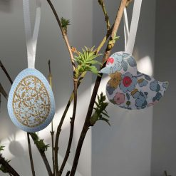 Easter decorations made with Liberty tana lawn and faux leather 6
