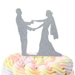 Dancing Bride And Groom Cake Topper, Wedding Cake Topper