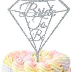 Diamond Bride To Be Cake Topper, Hen Night Cake Topper, Engagement Cake Topper