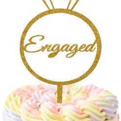 Engagement Ring Cake Topper