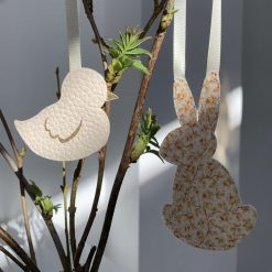 Easter decorations made with Liberty tana lawn and faux leather 5