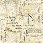 Michael Miller Limoncella Carte Postale 100% Cotton Fabric - FQ - METRE
