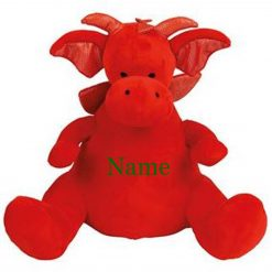 Mumbles Red Dragon Teddy Bear Personalised Embroidered Name.
