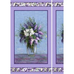 """Michael Miller Dreaming of Tuscany Blooming Vase Fabric Panel - 24"""" x 45"""" Cotton"""