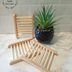 Natural wooden soap dish /soap rack ,Free postage uk , Soap ladder