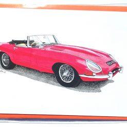 E-Type Jaguar Greeting Card