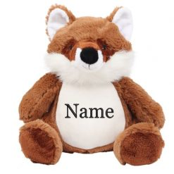 Mumbles Fox Teddy Bear Personalised Embroidered Name.