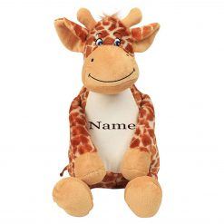 Mumbles GIRAFFE Teddy Bear Personalised Embroidered Name.