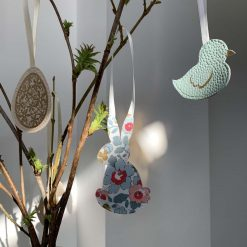 Easter decorations made with Liberty tana lawn and faux leather 10