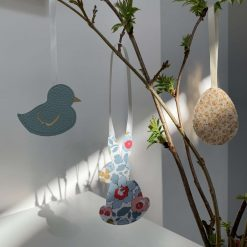 Easter decorations made with Liberty tana lawn and faux leather 8