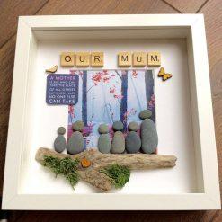 Pebble art Mum gift, mother's day gift, gift for her, birthday gift for mum