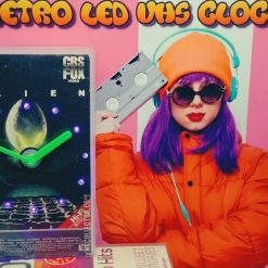 Alien Retro Original Backlit LED VHS Clock