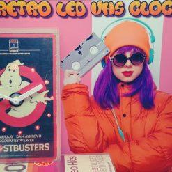 Ghostbusters Retro Original Backlit LED VHS Clock