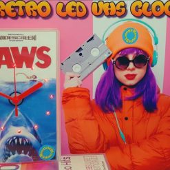 Jaws Retro Original Backlit LED VHS Clock