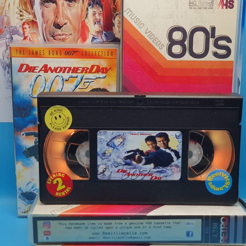 Die Another Day Retro VHS Lamp