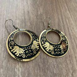 Elephant earrings gold