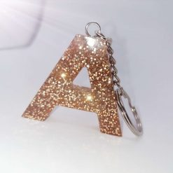 Any Glitter Colour Resin Keyring | Free Delivery |