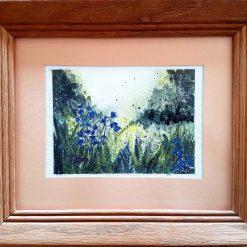 Bluebells Watercolour Framed Original