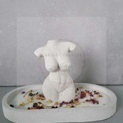 Concrete Female Torso and Tray set *free delivery*