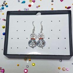 Ying Yang Earrings Purple/White