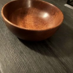 Sapele hardwood bowl 18cmx7