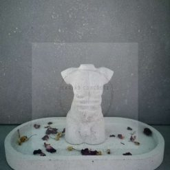 Concrete Male Torso and Trinket Tray Set *Free delivery*