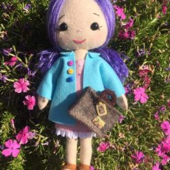 Felt doll with suitcase
