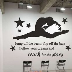 Jump-of-the-beam wall art Decal Sticker home decoration