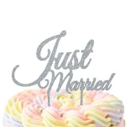 Just Married Cake Topper, Wedding Cake Topper
