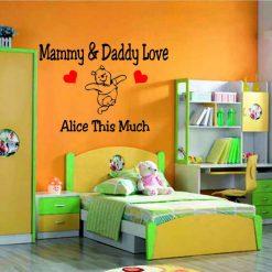 Mammy & Daddy wall art Decal Sticker home decoration