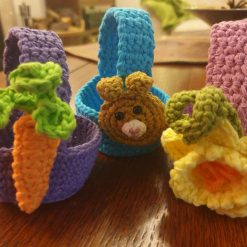 Crochet mini egg basket (multi-buy discount, free delivery)