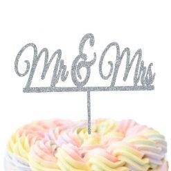 Mr & Mrs Underlined Cake Topper, Wedding Cake Topper