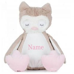 Mumbles Owl Teddy Bear Personalised Embroidered Name.