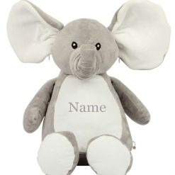 Mumbles ELEPHANT Teddy Bear Personalised Embroidered Name.