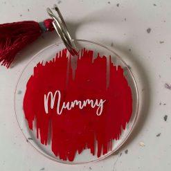 Acrylic Mummy keyring
