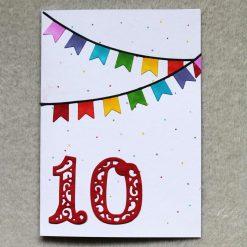 Personalised Age Happy Birthday Greetings Card 6