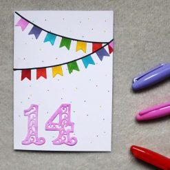 Personalised Age Happy Birthday Greetings Card 3