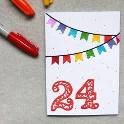 Personalised Age Happy Birthday Greetings Card 1