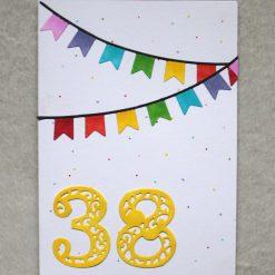Personalised Age Happy Birthday Greetings Card 4