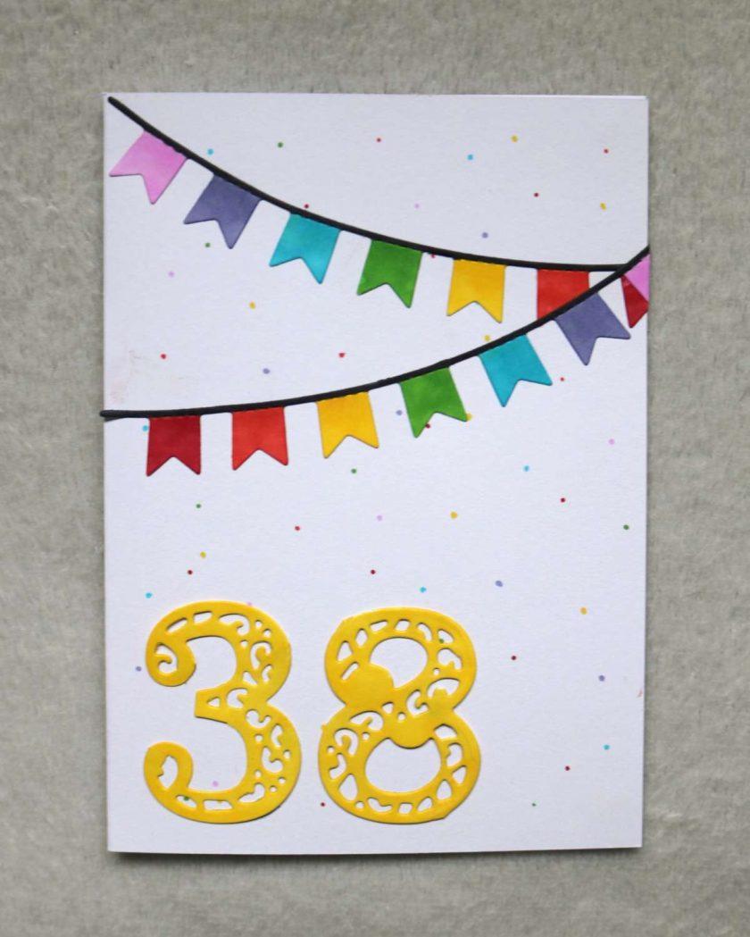 Personalised Age Happy Birthday Greetings Card