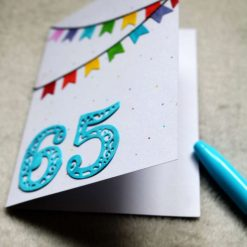 Personalised Age Happy Birthday Greetings Card 5
