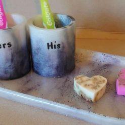 His & Hers bathroom set