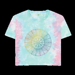 *NEW* hand-drawn Rainbow Mandala design printed on Boxy Tee-Shirt
