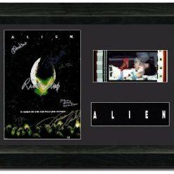 Alien 35mm Framed Film Cell Display - Cast Signed