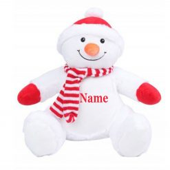 Mumbles SNOWMAN Teddy Bear Personalised Embroidered Name.