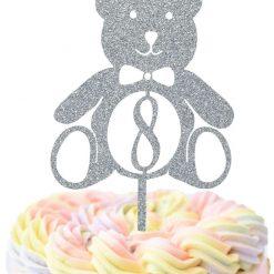 Custom Teddy Bear Happy Birthday Cake Topper
