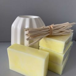 Handmade Baby Powder Yellow Marble Soap