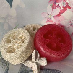 Handmade Cherry Blossom Loofah Soap